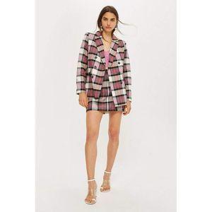 Topshop Tartan Skirt & Double Breasted Jacket Set